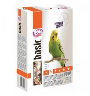 Полнорационный корм для волнистых попугаев 1кг