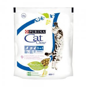 Сухой корм Cat Chow Cat Chow для взрослых кошек 3 в 1 (0,4 кг)
