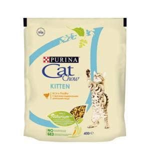 Сухой корм Cat Chow Cat Chow для котят, с курицей (0,4 кг)