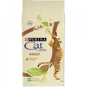 Сухой корм Cat Chow Cat Chow для взрослых кошек, с уткой (15 кг)