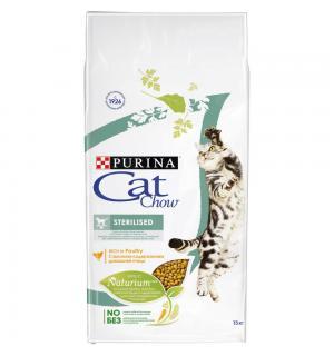 Сухой корм Cat Chow Cat Chow для взрослых стерилизованных кошек и кастрированных котов (15 кг)