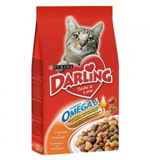Сухой корм Darling для взрослых кошек, с курочкой по-домашнему и овощами (2 кг)