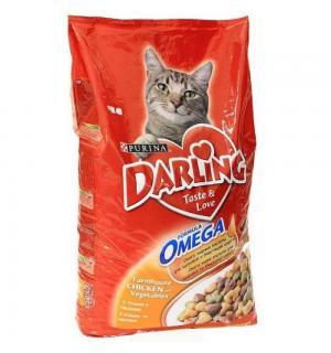 Сухой корм Darling для взрослых кошек, с курочкой по-домашнему и овощами (10 кг)