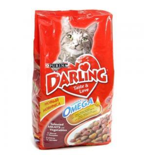 Сухой корм Darling для взрослых кошек, с мясом по-домашнему и овощами (10 кг)