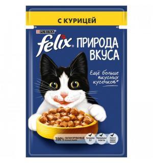 Влажный корм FELIX для взрослых кошек, с курицей в соусе (0,085 кг)