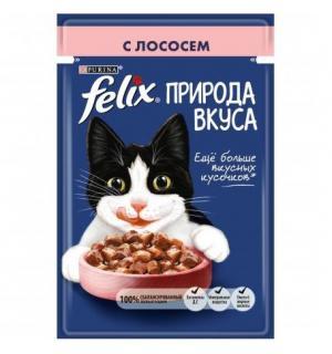 Влажный корм FELIX для взрослых кошек, с лососем в соусе (0,085 кг)