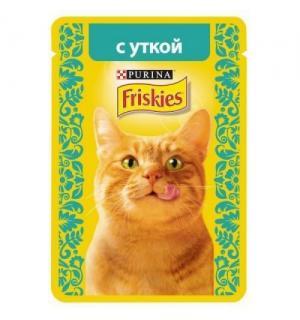 Влажный корм Friskies для взрослых кошек, с уткой в подливе (0,085 кг)