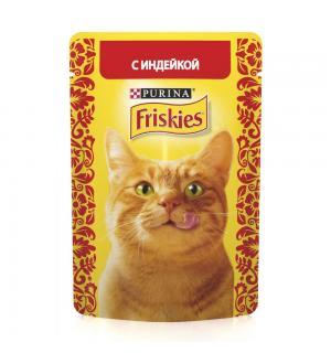 Влажный корм Friskies для взрослых кошек, с индейкой в подливе (0,085 кг)