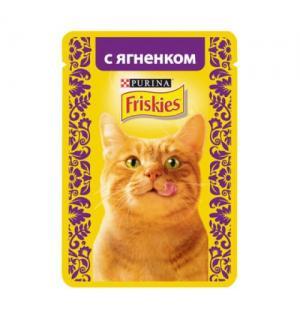 Влажный корм Friskies для взрослых кошек, с ягненком в подливе (0,085 кг)
