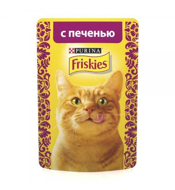 Влажный корм Friskies для взрослых кошек, с лососем в подливе (0,085 кг)