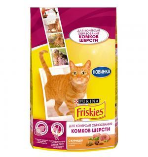 Сухой корм Friskies для взрослых кошек, с курицей и добавлением овощей для контроля образования комков шерсти (1,5 кг)