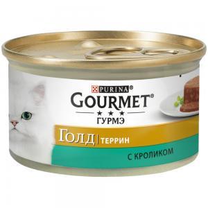 Консервы GOURMET GOLD для кошек, с кроликом (0,085 кг)