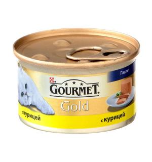 Консервы GOURMET GOLD для взрослых кошек, с курицей (0,085 кг)