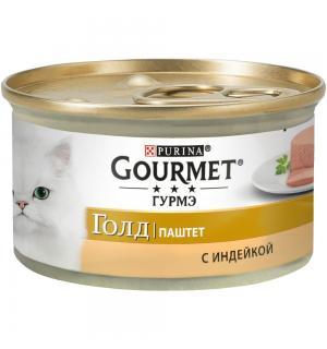 Консервы GOURMET GOLD для кошек, паштет с индейкой (0,085 кг)