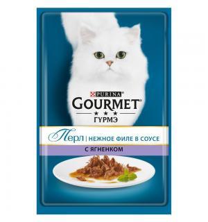 Влажный корм GOURMET PERLE для взрослых кошек, с ягненком в подливке  (0,085 кг)