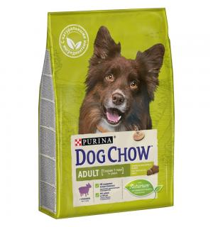 Сухой корм Dog Chow для взрослых собак, с ягненком (2,5 кг)