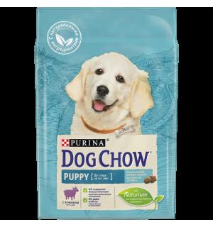 Сухой корм Dog Chow для щенков, с ягненком (2,5 кг)