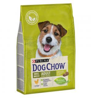 Сухой корм Dog Chow для взрослых собак мелких пород, с курицей (2,5 кг)