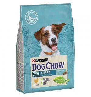 Сухой корм Dog Chow для щенков мелких пород, с курицей (2,5 кг)