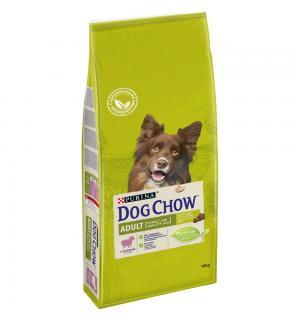 Сухой корм Dog Chow для взрослых собак, с ягненком (14 кг)