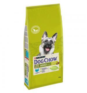 Сухой корм Dog Chow для взрослых собак крупных пород, с индейкой (14 кг)