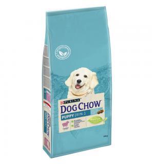 Сухой корм Dog Chow для щенков, с ягненком (14 кг)