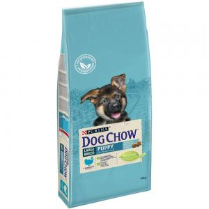Сухой корм Dog Chow для щенков крупных пород, с индейкой (14 кг)