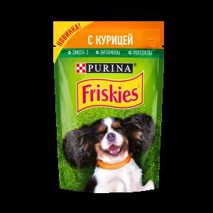 Влажный корм Friskies для взрослых собак, с курицей в подливе (0,085 кг)