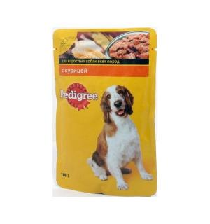 Влажный корм Pedigree для взрослых собак всех пород, с курицей в соусе (0,1 кг)