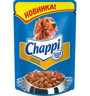 Влажный корм Chappi для взрослых собак,