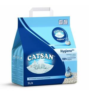 Наполнитель Catsan Hygiene plus впитывающийся гигиенический (5 л)