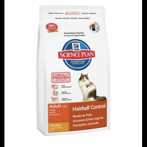 Сухой корм Hill's Science Plan для кошек, с курицей для вывода комков шерсти (0,3 кг)