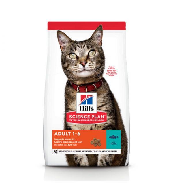 Сухой корм Hill's Science Plan для взрослых кошек, тунец (0,3 кг)