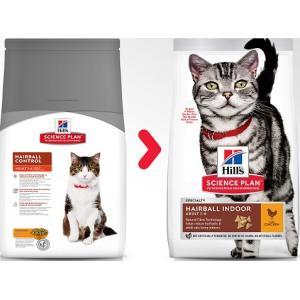 Сухой корм Hill's Science Plan Hairball Control для взрослых кошек для выведения шерсти, с курицей (10 кг)