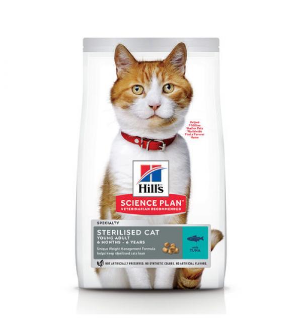 Сухой корм Hill's Science Plan для стерилизованных кошек, тунец (10 кг)