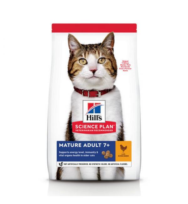 Сухой корм Hill's Science Plan для кошек старше 7 лет, с курицей (1.5 кг)