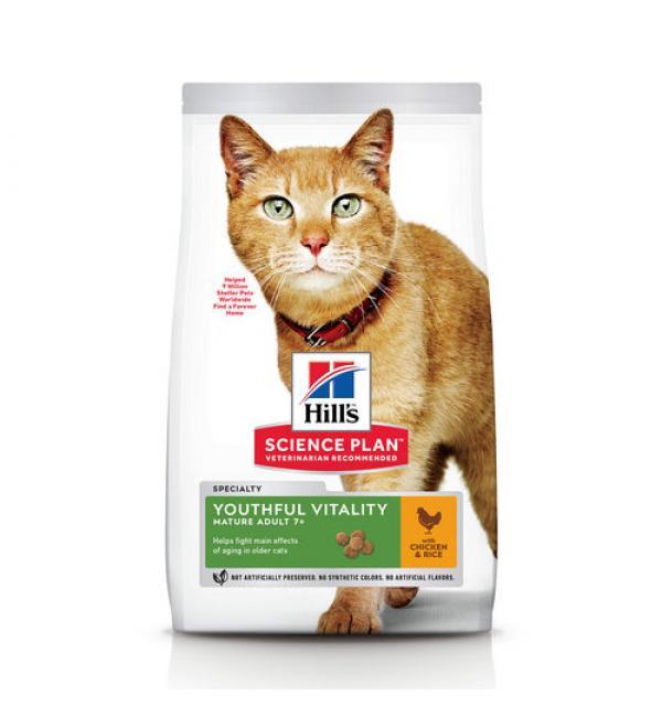 Сухой корм Hill's Science Plan для кошек старше 7 лет, курица и рис (1,5 кг)