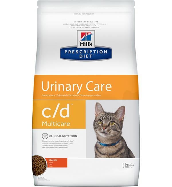 Сухой корм Hill's Prescription Diet для кошек c/d, с курицей (0,4 кг)