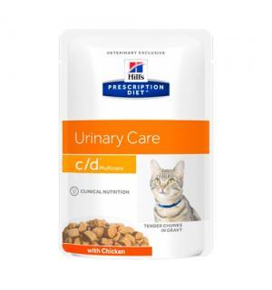 Влажный корм Hill's Prescription Diet для кошек c/d, с курицей (0,085 кг)