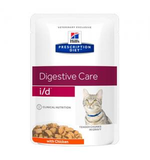 Влажный корм Hill's Prescription Diet для кошек i/d, с курицей (ЖКТ) (0,085 кг)