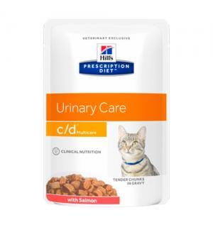 Влажный корм Hill's Prescription Diet для кошек c/d, с лососем (0,085 кг)