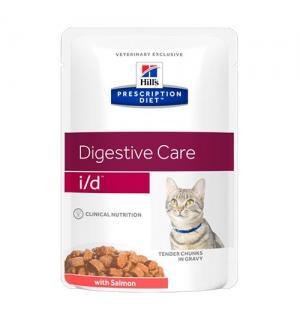 Влажный корм Hill's Prescription Diet для кошек i/d, с лососем (ЖКТ) (0,085 кг)