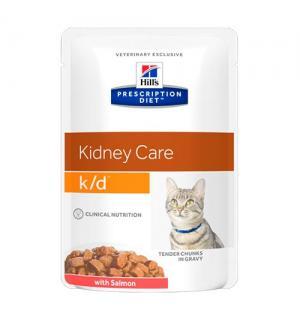Влажный корм Hill's Prescription Diet для кошек k/d, с лососем (0,085 кг)