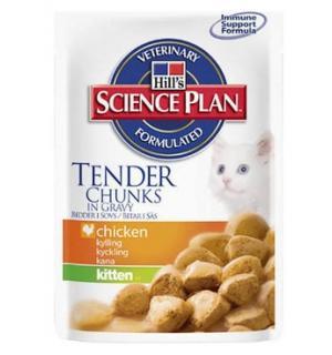 Влажный корм Hill's Science Plan для котят, с курицей кусочки в соусе (0,085 кг)