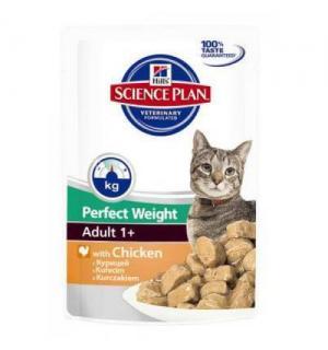 Влажный корм Hill's Science Plan для взрослых кошек Идеальный вес (0,085 кг)