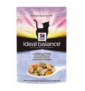 Влажный корм Hill's Ideal Balance для взрослых кошек, форель и овощи (0,085 кг)