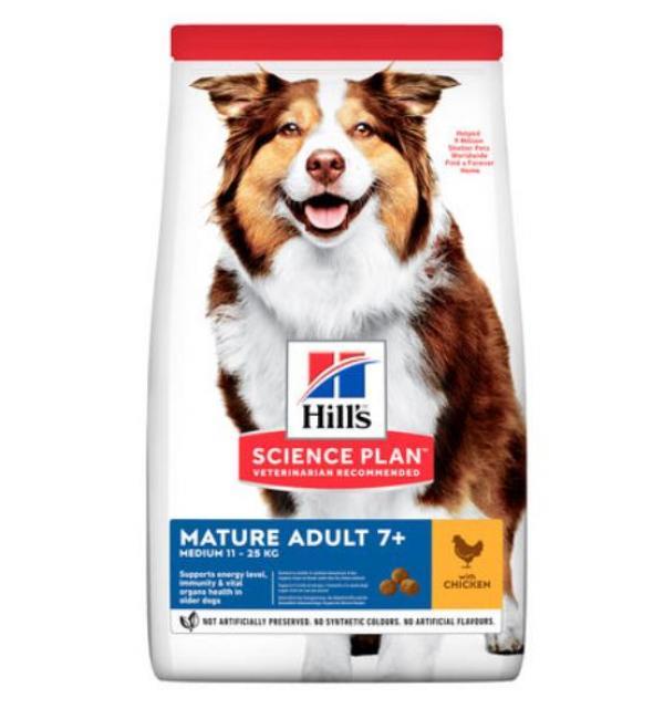 Сухой корм Hill's Science Plan для пожилых собак, с курицей (12 кг)