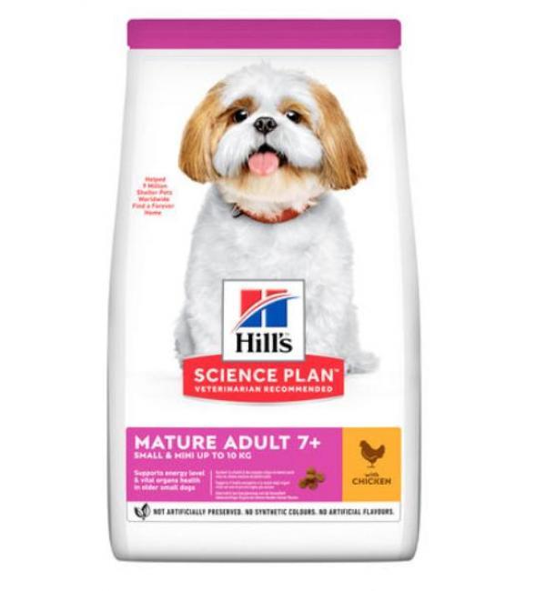 Сухой корм Hill's Science Plan для пожилых собак декоративных пород 7+, курица (0,3 кг)