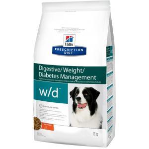 Сухой корм Hill's Prescription Diet для собак w/d при диабете (12 кг)