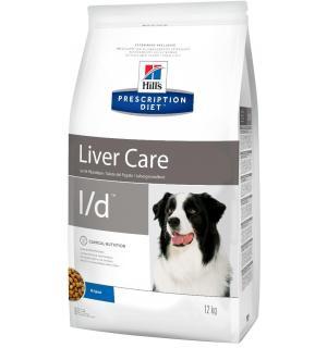 Сухой корм Hill's Prescription Diet для собак l/d при заболеваниях печени (12 кг)